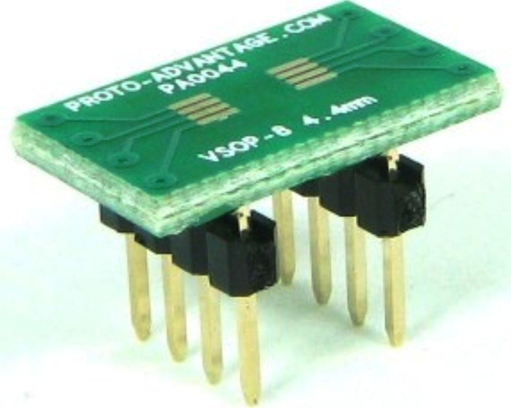 VSOP-8 to DIP-8 SMT Adapter (0.65 mm pitch, 4.4 mm body) 0