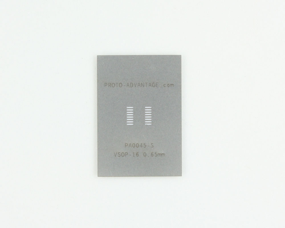 VSOP-16 (0.65 mm pitch, 4.4 mm body) Stainless Steel Stencil 0
