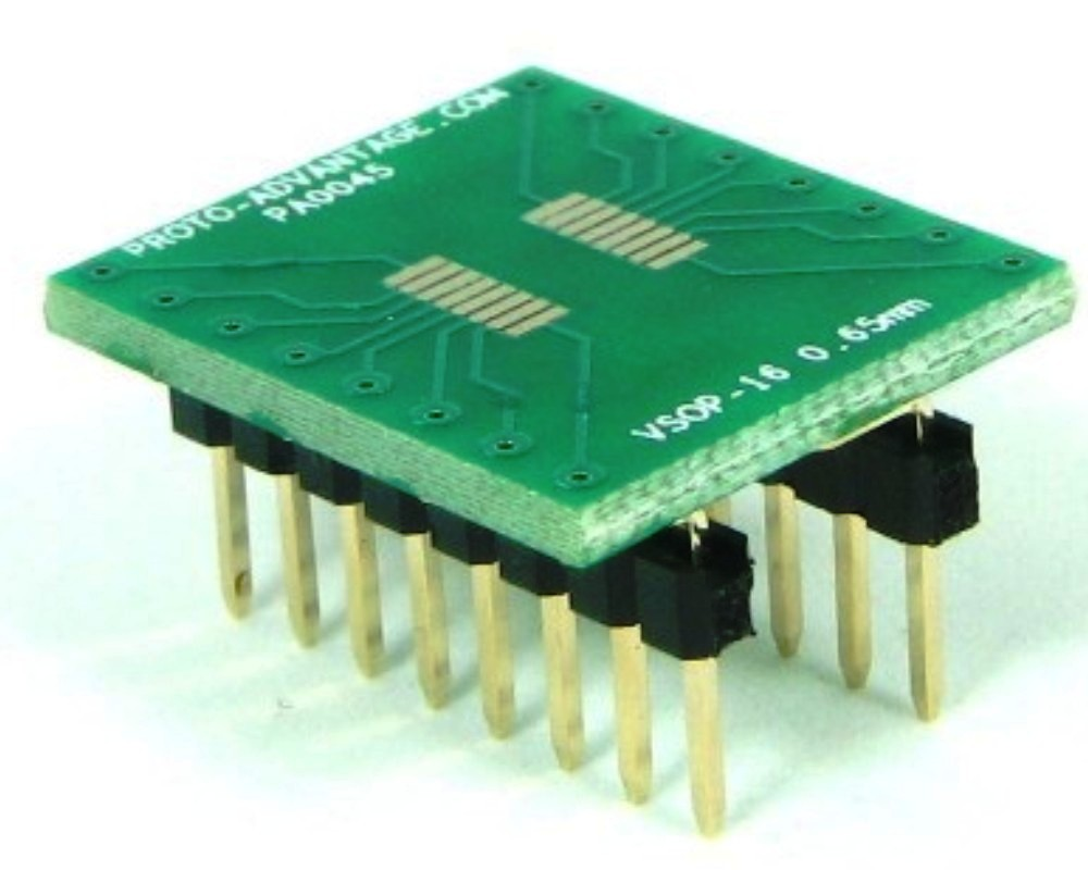 VSOP-16 to DIP-16 SMT Adapter (0.65 mm pitch, 4.4 mm body) 0