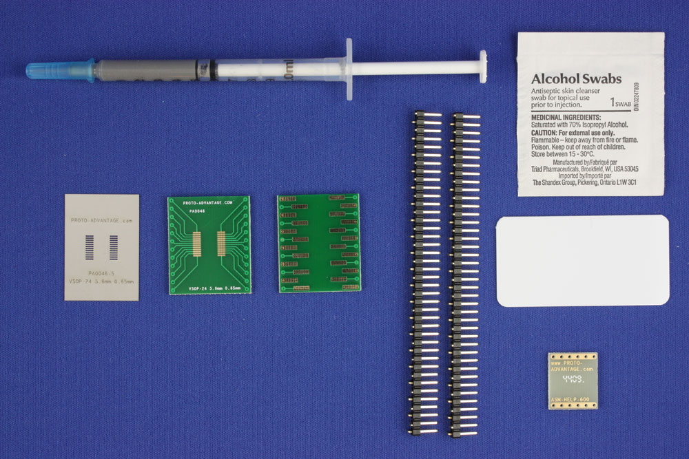 VSOP-24 (0.65 mm pitch, 5.6 mm body) PCB and Stencil Kit 0