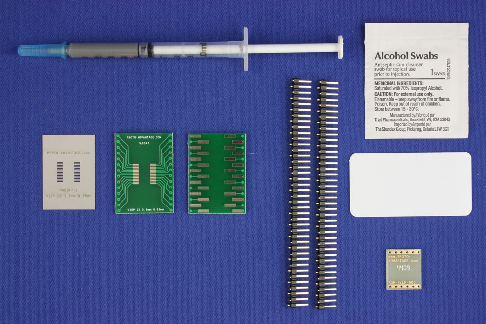 VSOP-28 (0.65 mm pitch, 5.6 mm body) PCB and Stencil Kit 0