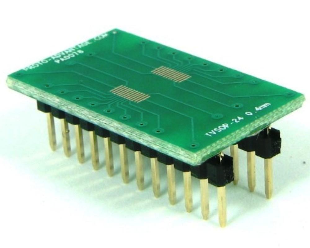 TVSOP-24 to DIP-24 SMT Adapter (0.4 mm pitch) 0