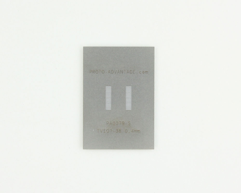 TVSOP-38 (0.4 mm pitch) Stainless Steel Stencil 0