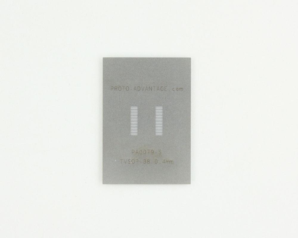 TVSOP-38 (0.4 mm pitch) Stainless Steel Stencil 0