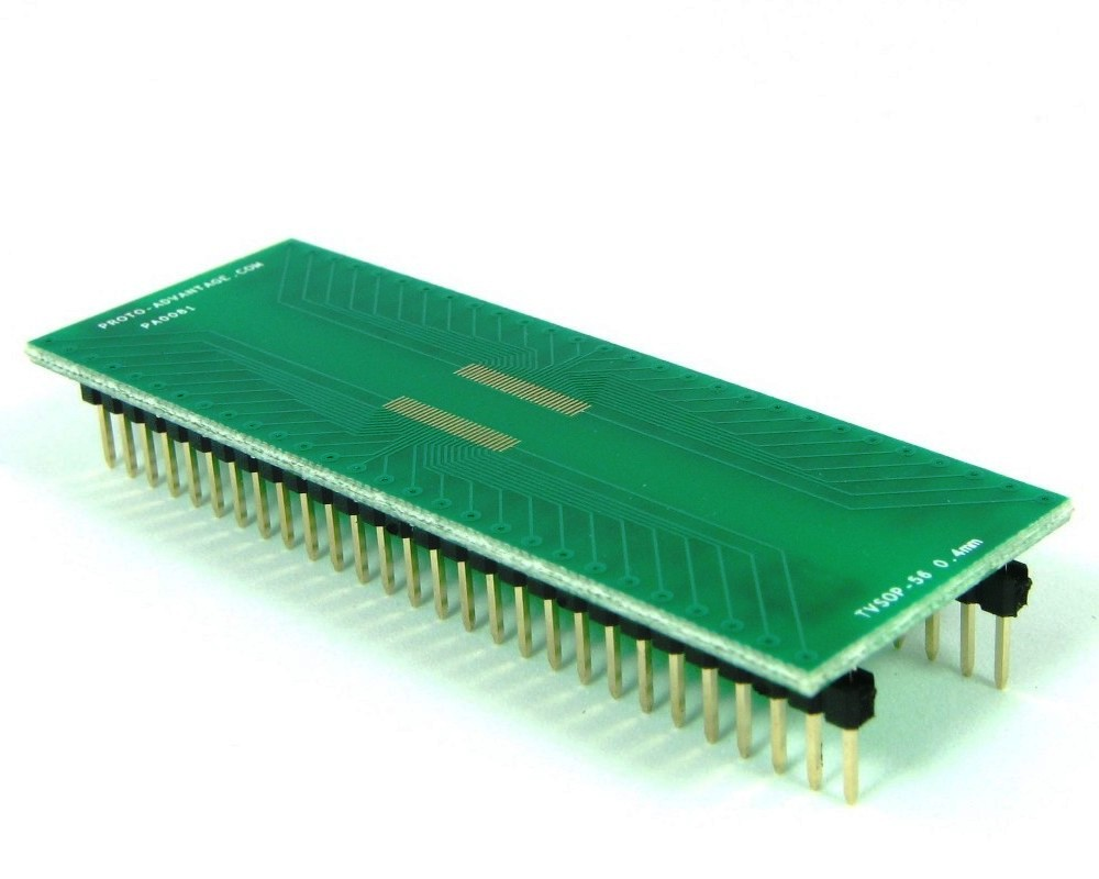 TVSOP-56 to DIP-56 SMT Adapter (0.4 mm pitch) 0
