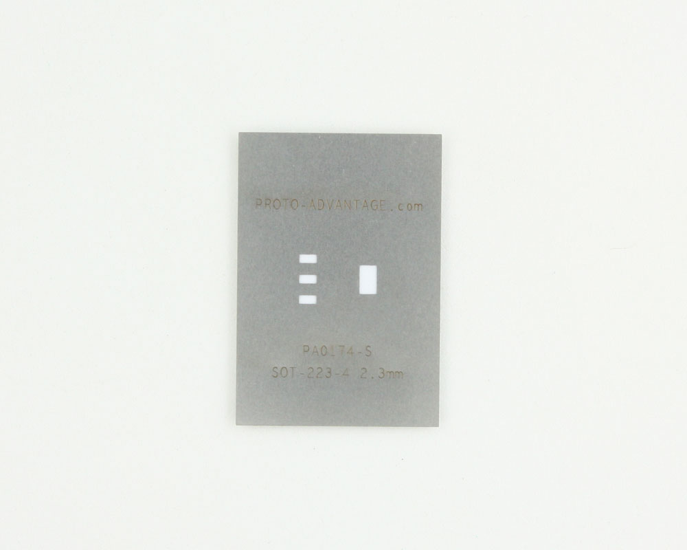 SOT-223-4 (2.3 mm pitch) Stainless Steel Stencil 0
