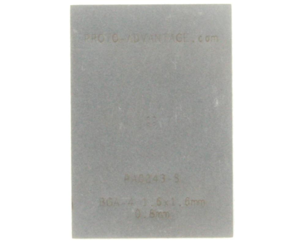 BGA-4 (0.8 mm pitch, 1.6 x 1.6 mm body) Stencil 0