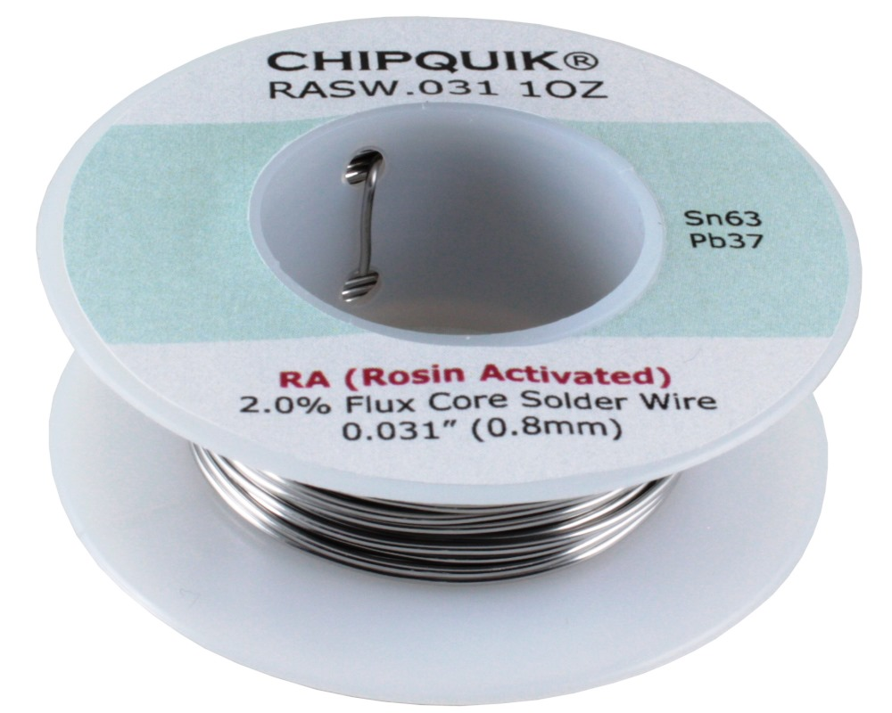 Solder Wire 63/37 Tin/Lead Rosin Activated .031 1oz 0