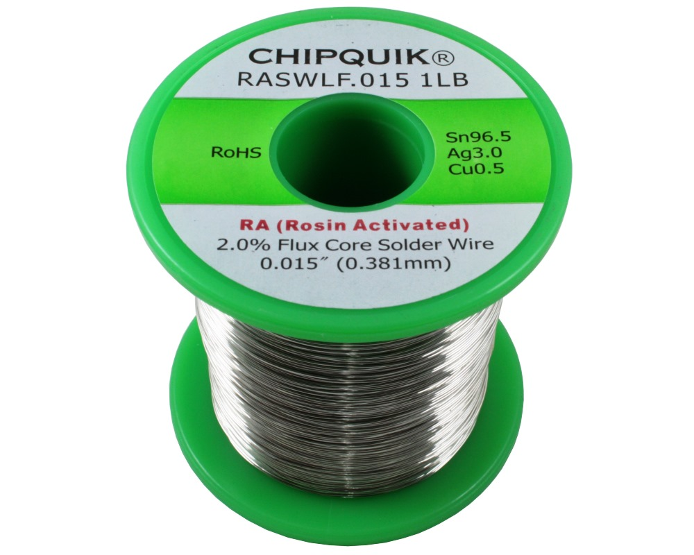 LF Solder Wire 96.5/3/0.5 Tin/Silver/Copper Rosin Activated .015 1lb 0