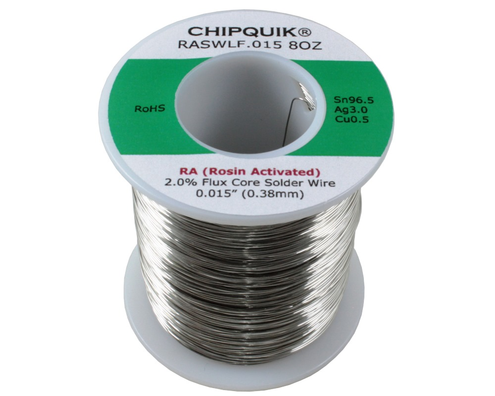LF Solder Wire 96.5/3/0.5 Tin/Silver/Copper Rosin Activated .015 1/2lb 0