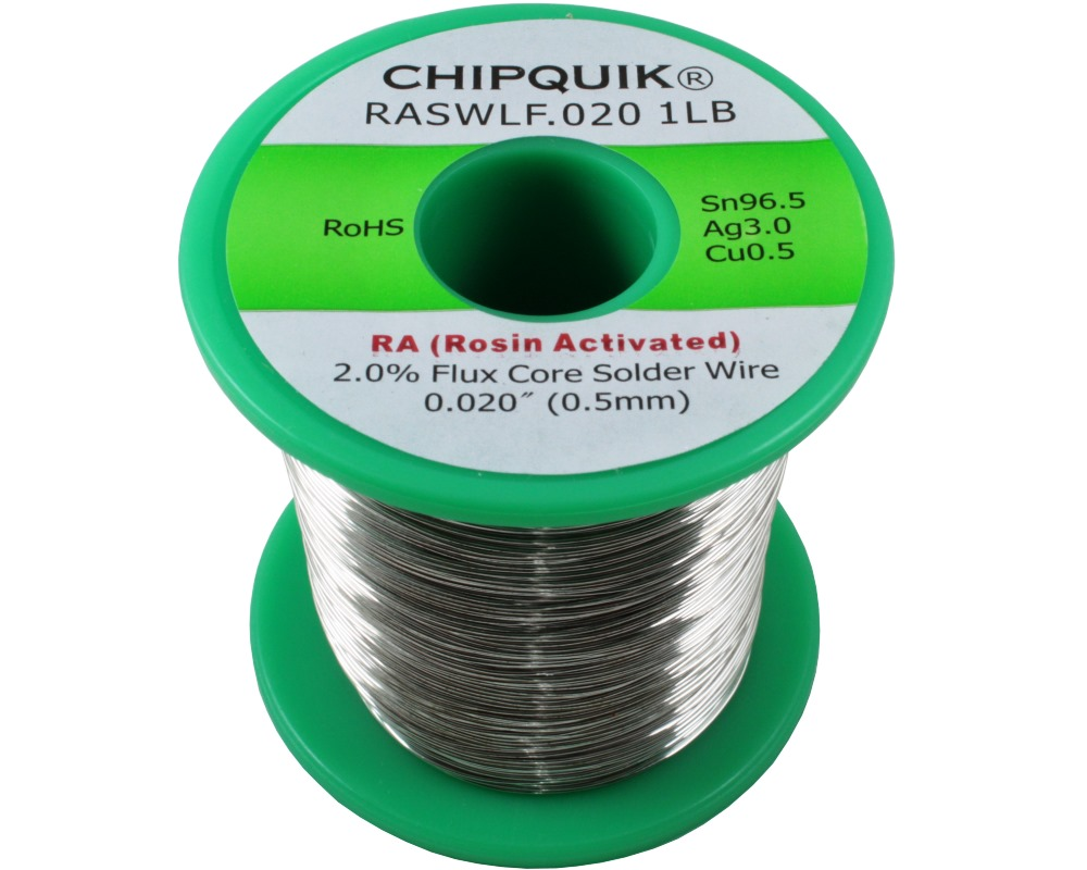 LF Solder Wire 96.5/3/0.5 Tin/Silver/Copper Rosin Activated .020 1lb 0