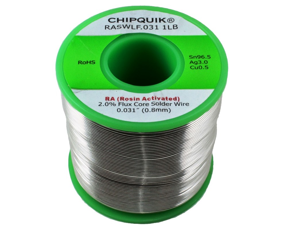LF Solder Wire 96.5/3/0.5 Tin/Silver/Copper Rosin Activated .031 1lb 0