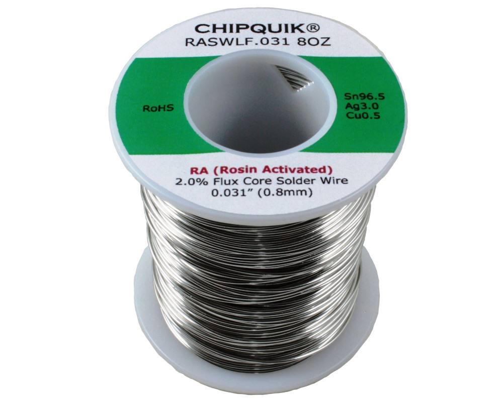 LF Solder Wire 96.5/3/0.5 Tin/Silver/Copper Rosin Activated .031 1/2lb 0