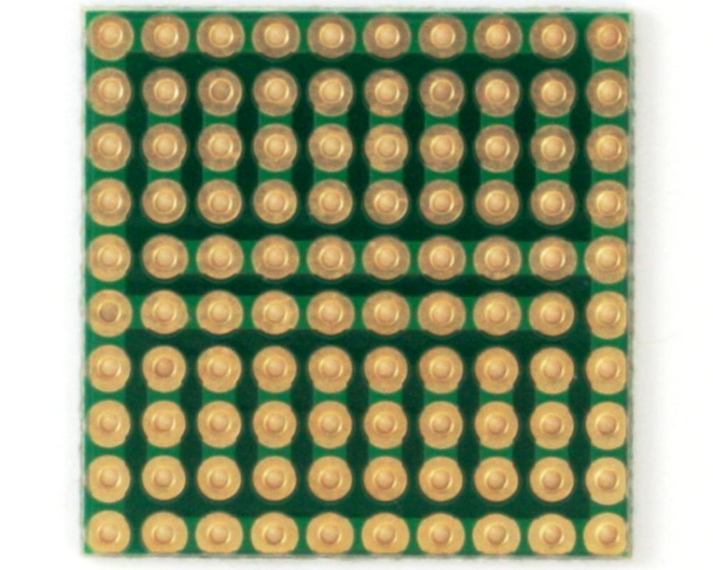 Solder-in breadboard 1x1
