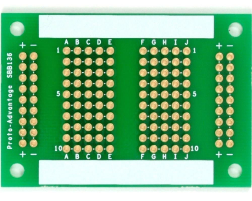 136 pts solder-in breadboard (Exact Solderless Match) 0