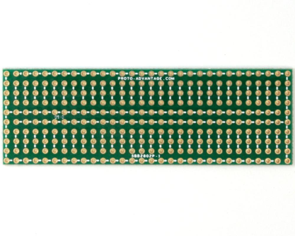 Solder-in breadboard 1x3