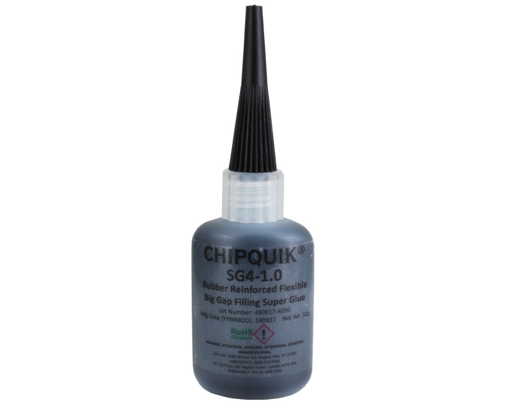Rubber Reinforced Super Glue - Flexible Big Gap Filling 1.0oz 0