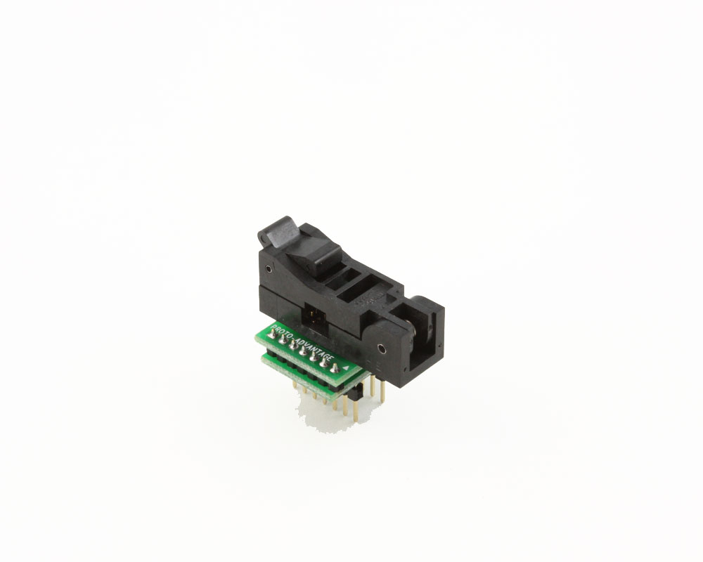 SOIC-14 Socket to DIP-14 Adapter (150 mil body, 1.27 mm pitch) 0