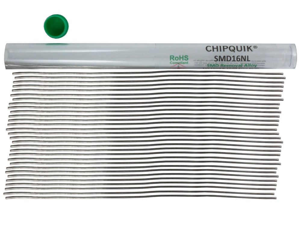 ChipQuik Alloy for SMD Removal (16ft. In 30-6.5in. Lengths) lead-free 1