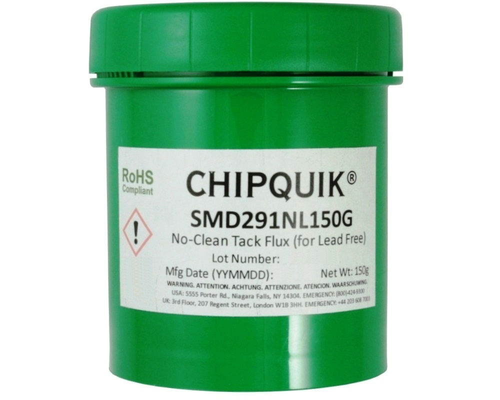 Tack Flux no clean SMD291NL in 150 gram Jar 0