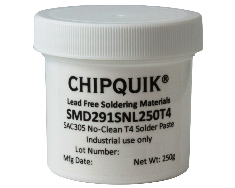 Solder Paste in jar 250g (T4) SAC305 no clean 0