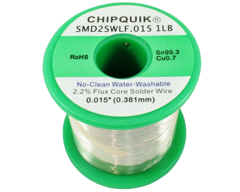 LF Solder Wire 99.3/0.7 Tin/Copper No-Clean Water-Washable .015 1lb 0