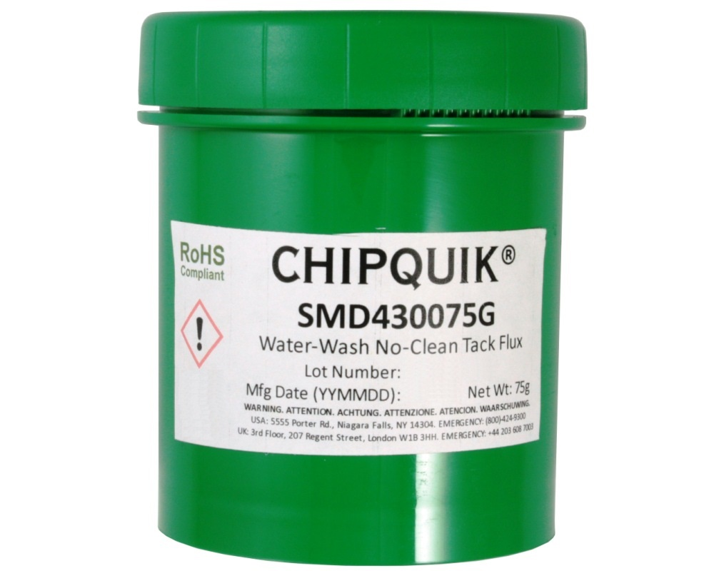 Tack Flux no-clean water-washable SMD4300 in 75 gram Jar 0