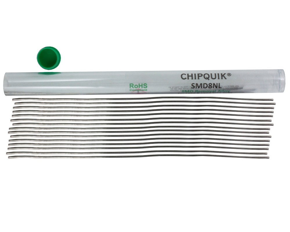 ChipQuik Alloy for SMD Removal (8ft. In 15-6.5in. Lengths) lead-free 1