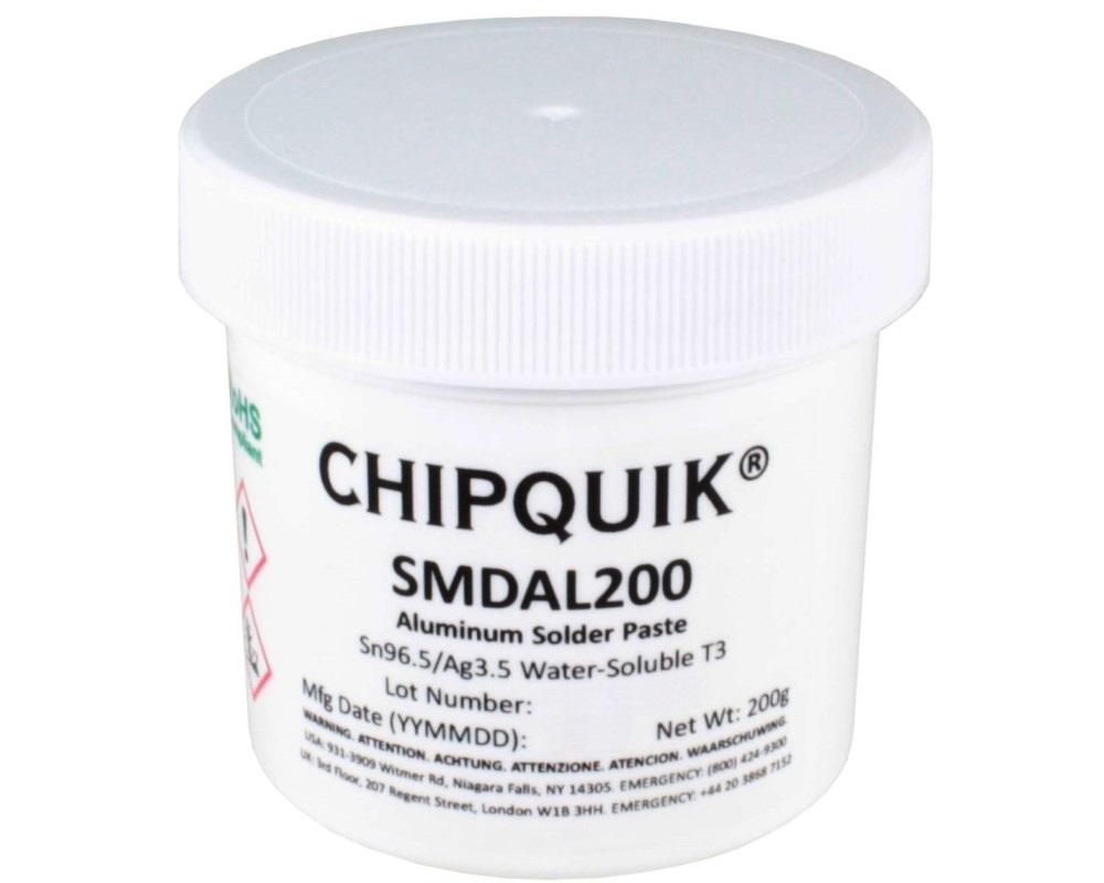 Aluminum Solder Paste Water-Soluble Sn96.5/Ag3.5 T3 (200g jar) 0