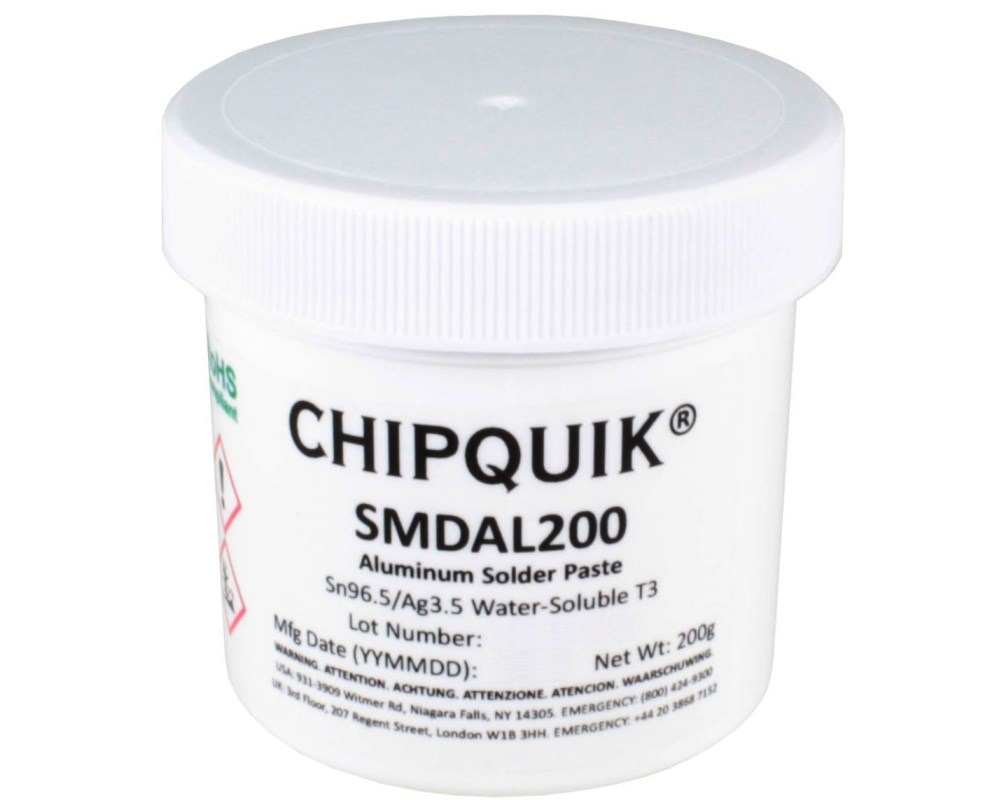 Aluminum Solder Paste Water-Soluble Sn96.5/Ag3.5 T3 (200g jar) 0