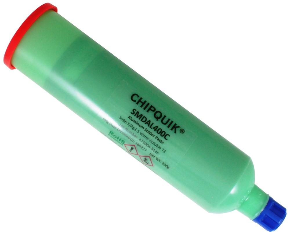 Aluminum Solder Paste Water-Soluble Sn96.5/Ag3.5 T3 (6oz/400g cartridge) 0