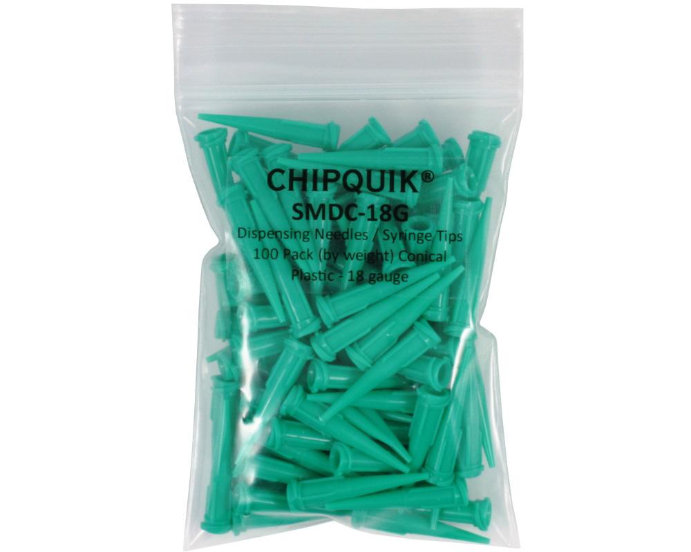 Dispensing Needles / Syringe Tips 100 Pack Conical Plastic - 18 gauge 0