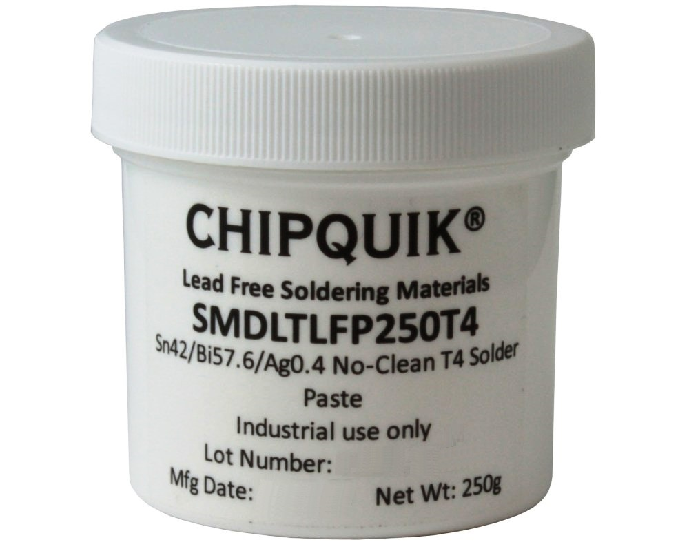 Solder Paste in jar 250g (T4) Sn42/Bi57.6/Ag0.4 Low Temperature 0
