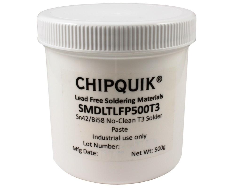 Solder Paste in jar 500g (T3) Sn42/Bi57.6/Ag0.4 Low Temperature 0