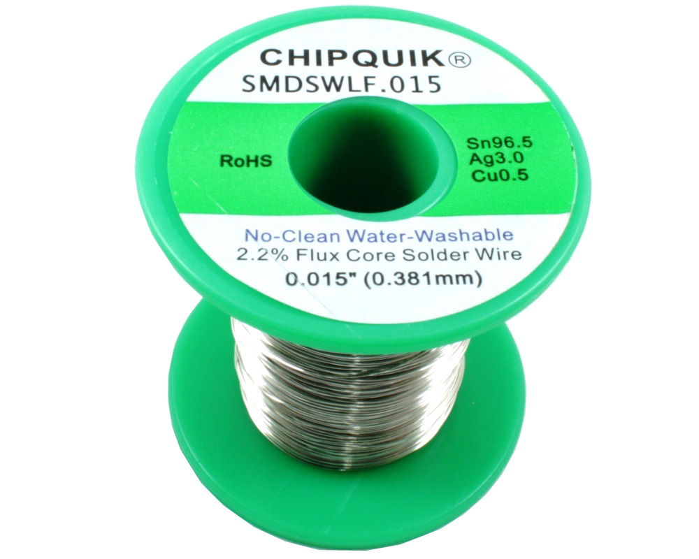 LF Solder Wire 96.5/3/0.5 Tin/Silver/Copper No-Clean Water-Washable .015 1/2lb 0