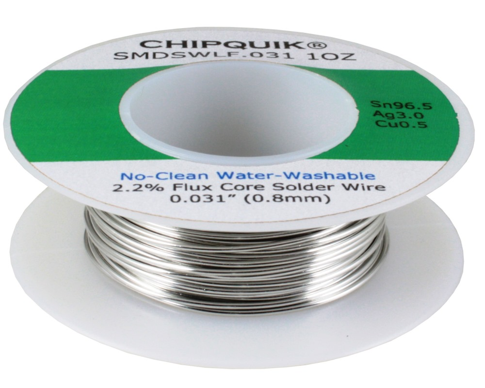 LF Solder Wire 96.5/3/0.5 Tin/Silver/Copper No-Clean Water-Washable .031 1oz 0