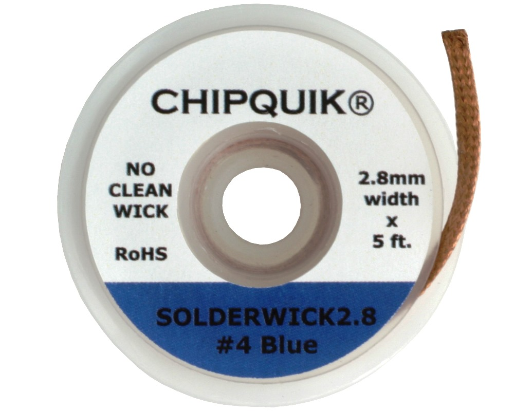 2.8mm Solder Wick - No Clean 0