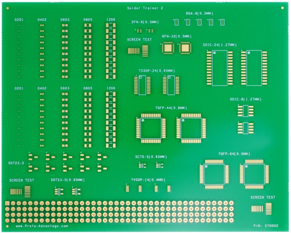 Surface Mount Soldering Practice Kit (with 135 SMD parts) Trainer/Training 0