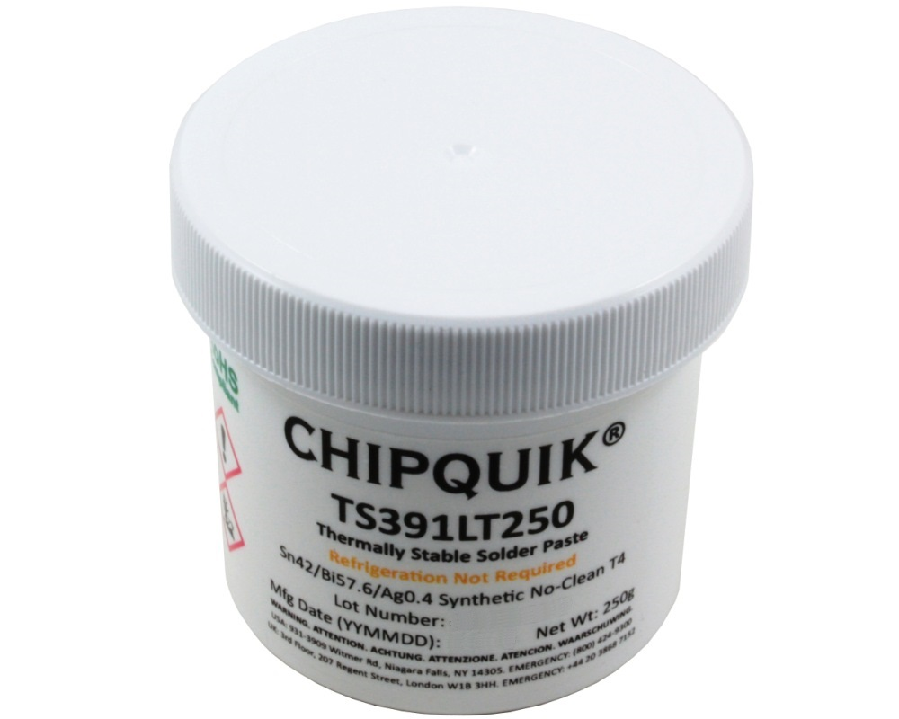 Thermally Stable Solder Paste No-Clean Sn42/Bi57.6/Ag0.4 T4 (250g jar) 0